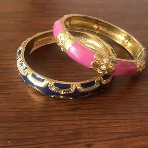 Blue and Pink Bangle Bracelets